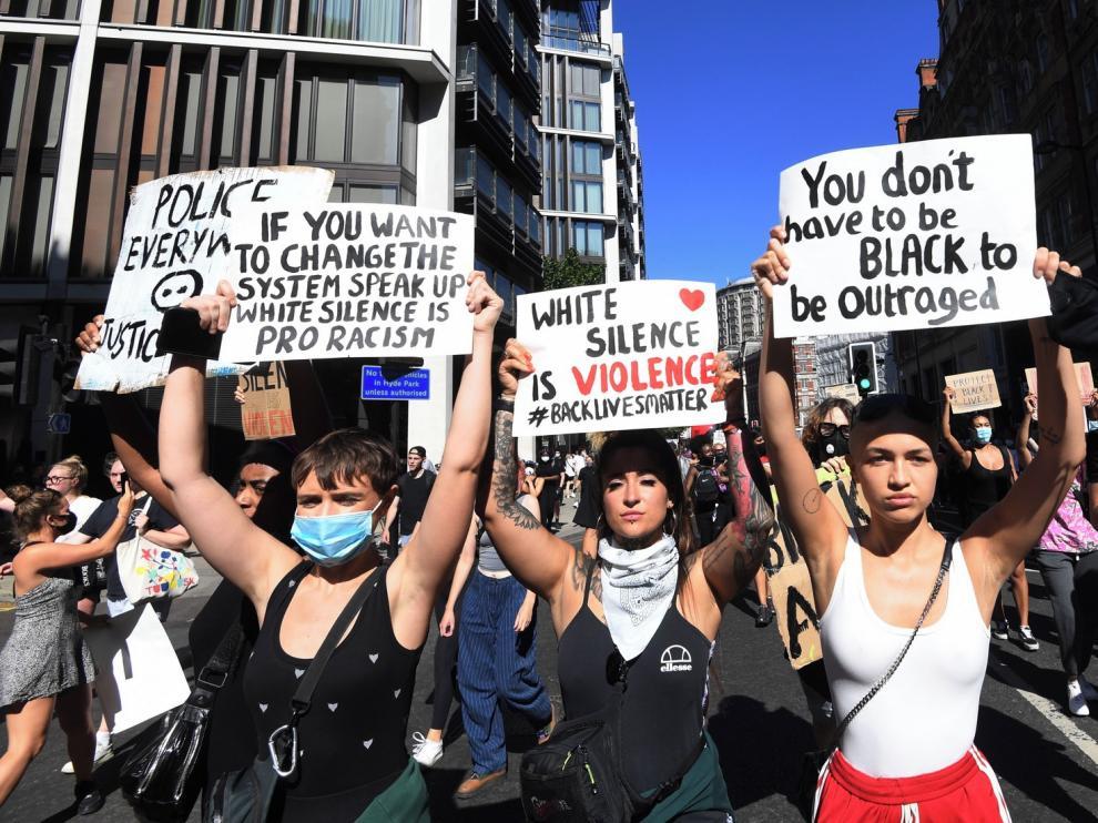 Las manifestaciones por George Floyd se extienden a Europa