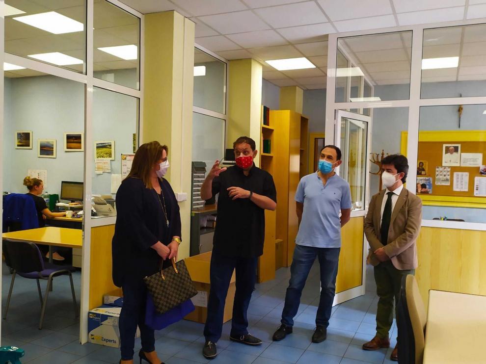 Luis Felipe agradece el trabajo realizado por Cáritas Huesca durante la pandemia