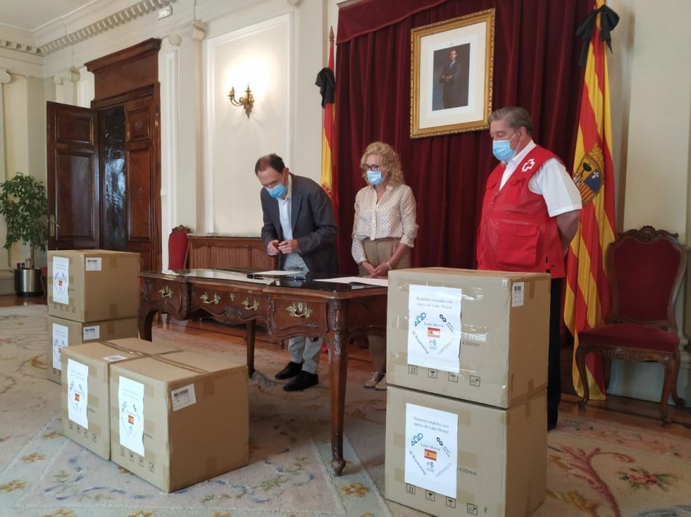 El Gobierno distribuye en Aragón 82.500 mascarillas para ONGs