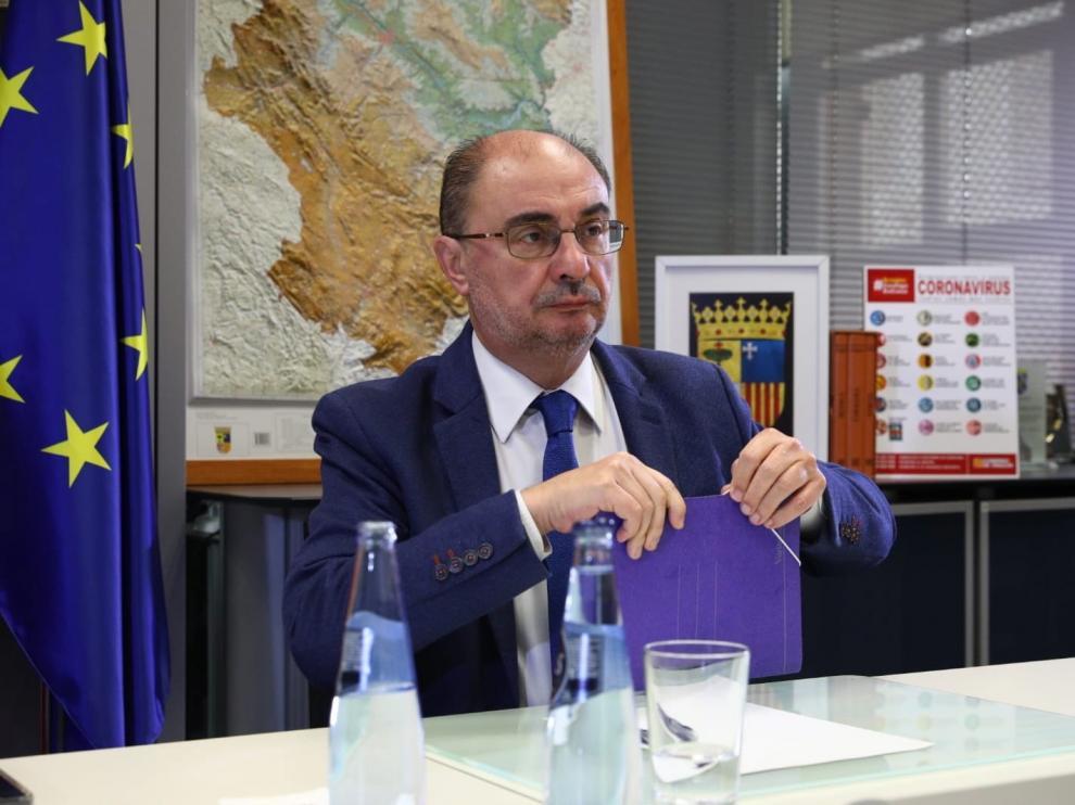 Javier Lambán ve Aragón capacitada para gestionar el ingreso mínimo
