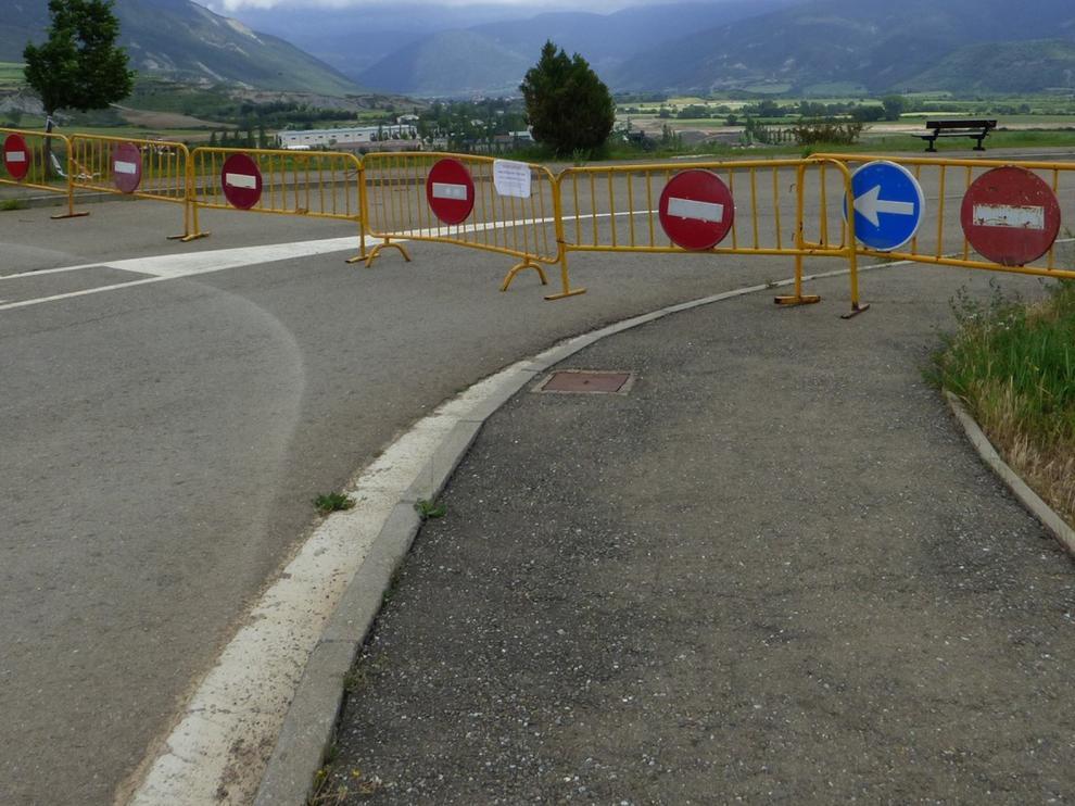 Sabiñánigo construirá un muro de contención en el vial de La Corona