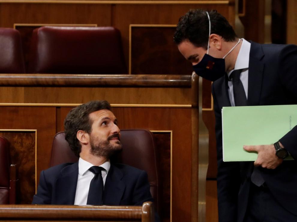 """Casado culpa a Sánchez de las """"purgas"""" en la Benemérita y dice que protege a Marlaska"""