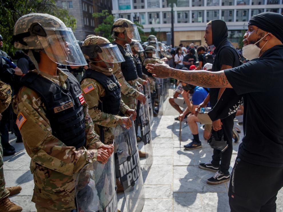 Las protestas por la violencia policial en EE. UU. apuntan ahora a Donald Trump