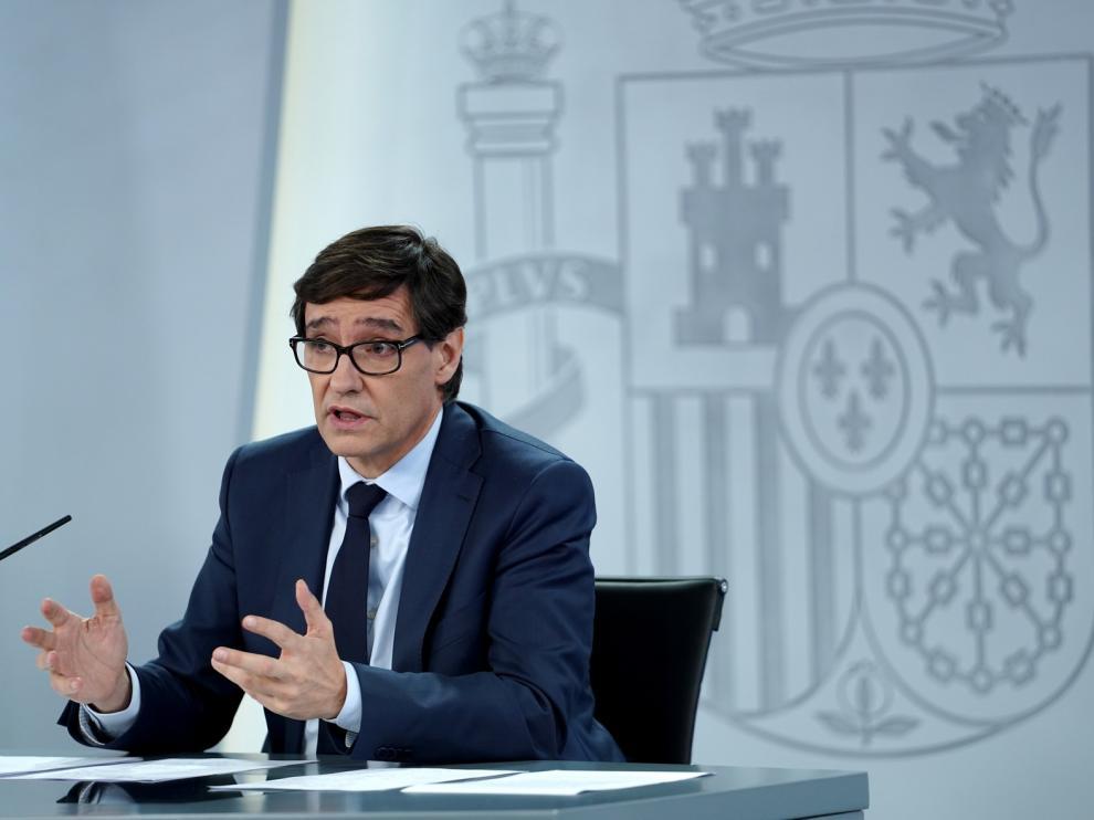 """Salvador Illa: """"El acuerdo es que los partidos sean a puerta cerrada de momento"""""""