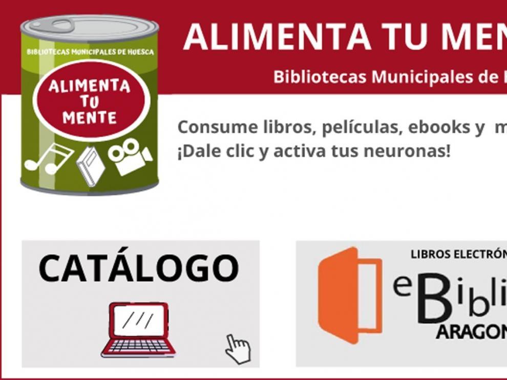 'Alimenta tu mente' es la nueva campaña de las bibliotecas de Huesca