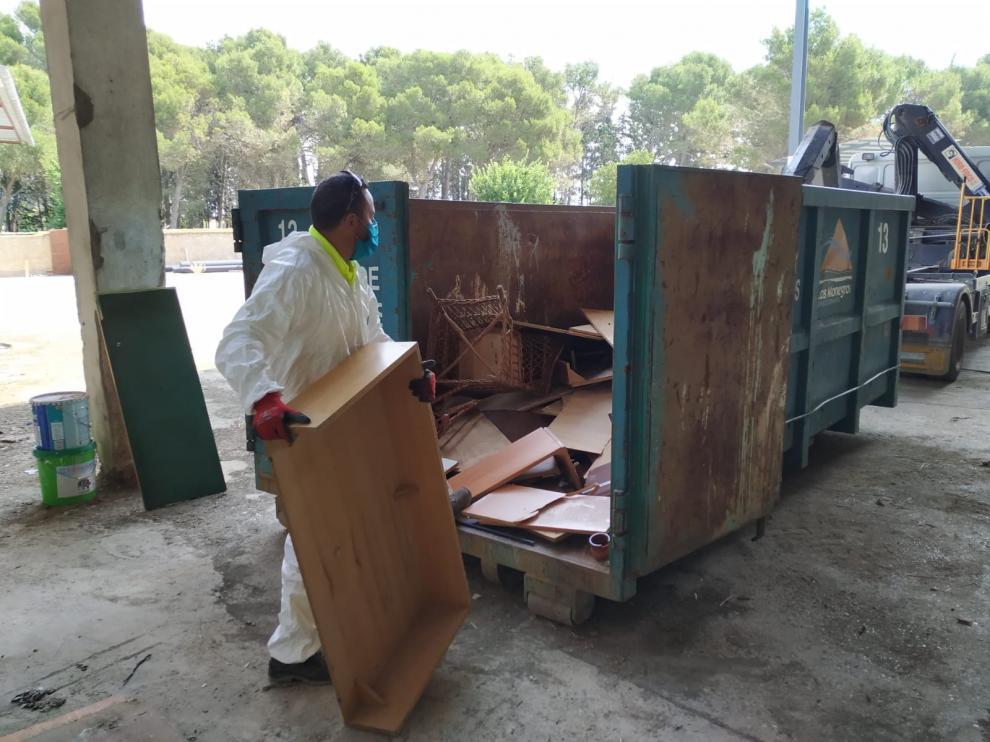 La Comarca de Los Monegros reanuda el servicio de recogida de residuos voluminosos