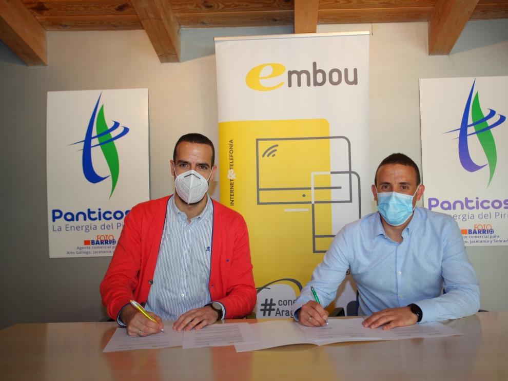Convenio entre Energías de Panticosa y Embou para dar ventajas a sus clientes