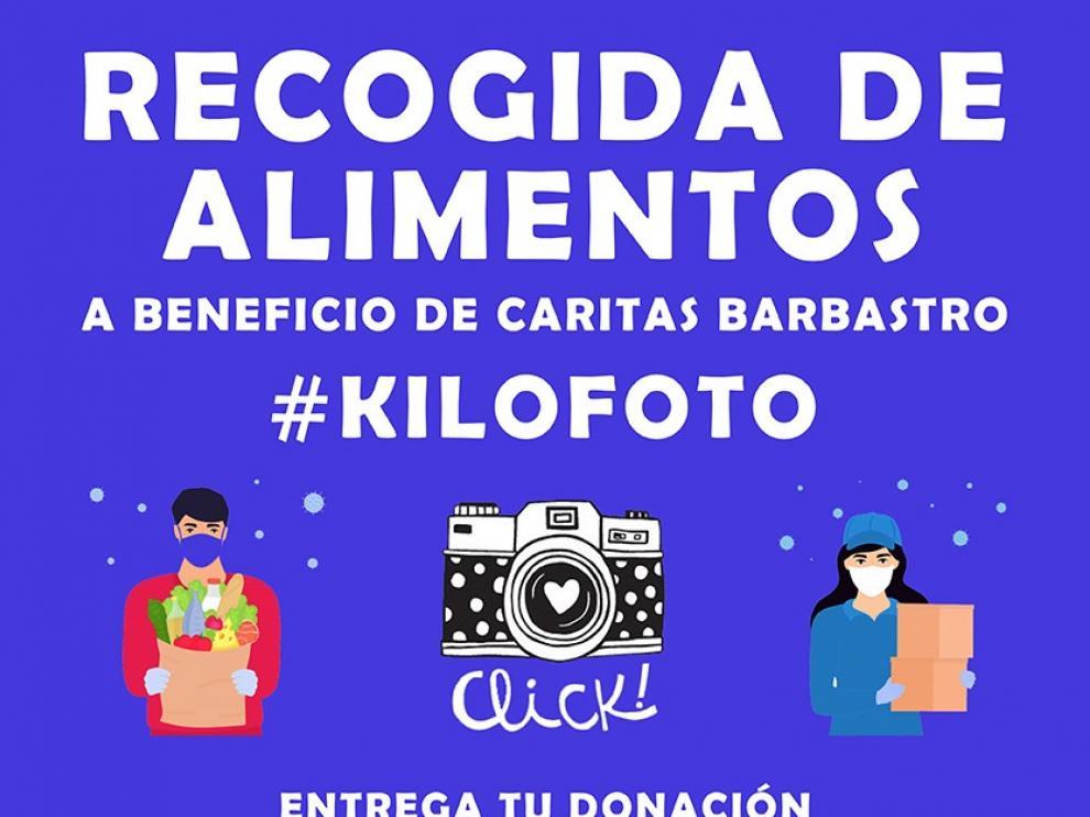 Cinco fotógrafos promueven en Barbastro una campaña de recogida de alimentos
