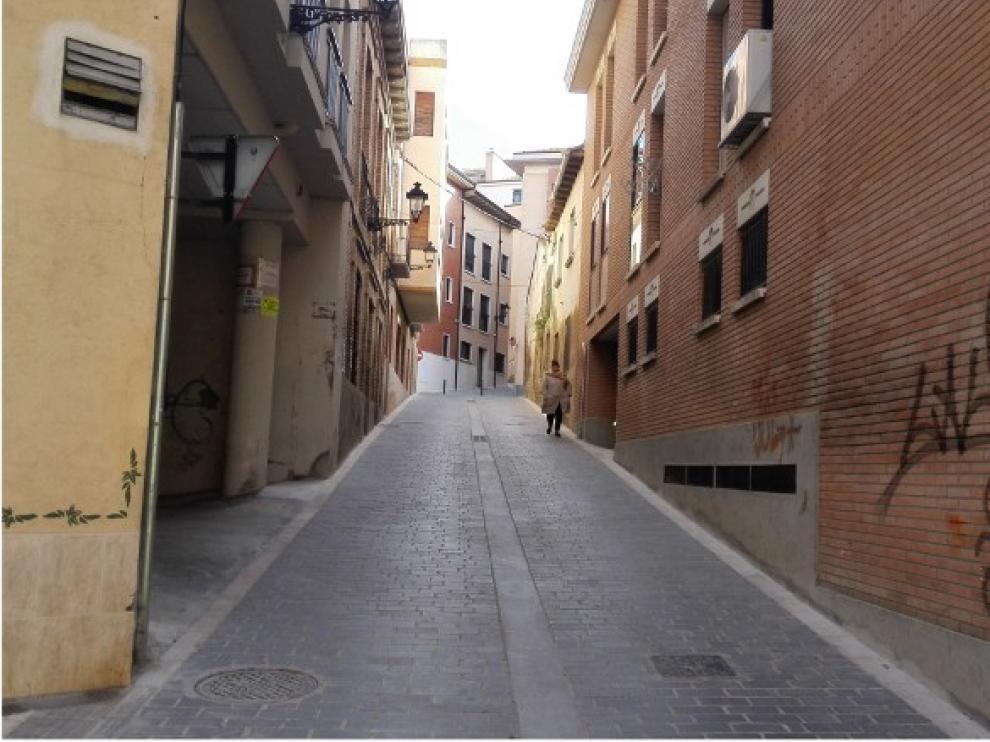 Corte al tráfico rodado de la Costanilla Sellán de Huesca, a partir de este lunes