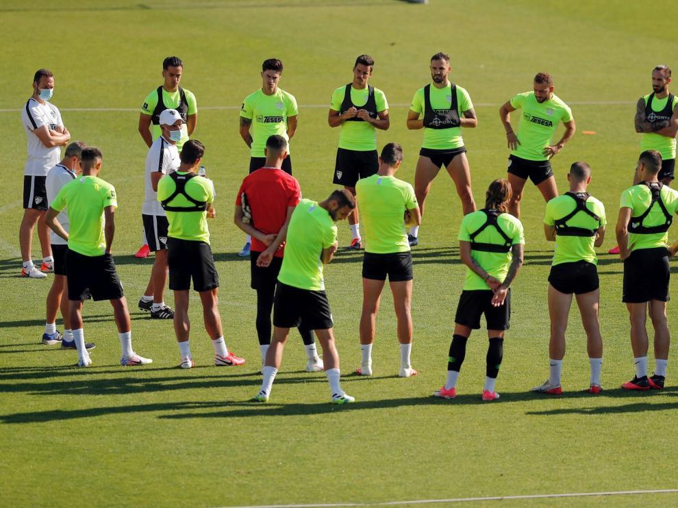 """Sergio Pellicer, técnico del Málaga: """"El Huesca es uno de los rivales más duros de la categoría"""""""