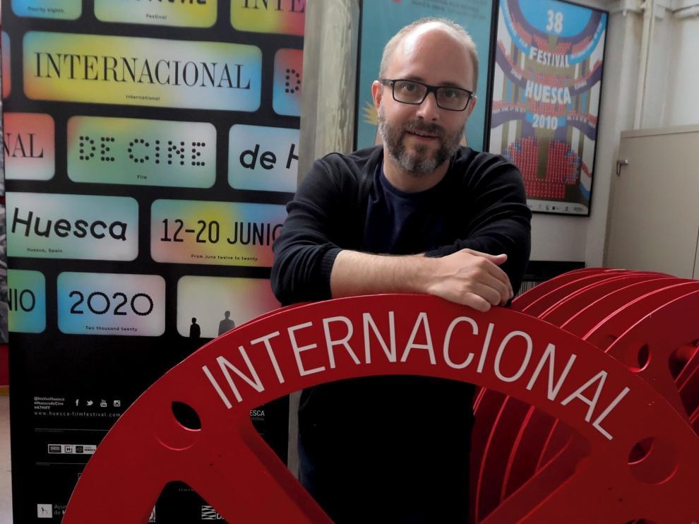 """Rubén Moreno, director del Fesival de Cine de Huesca: """"El certamen va a salir reforzado de esta difícil situación, sin duda"""""""