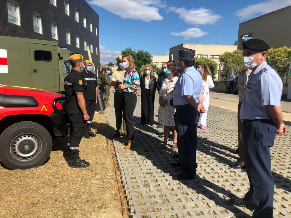 Aragón reconoce en un acto la labor del Ejército durante la pandemia de coronavirus