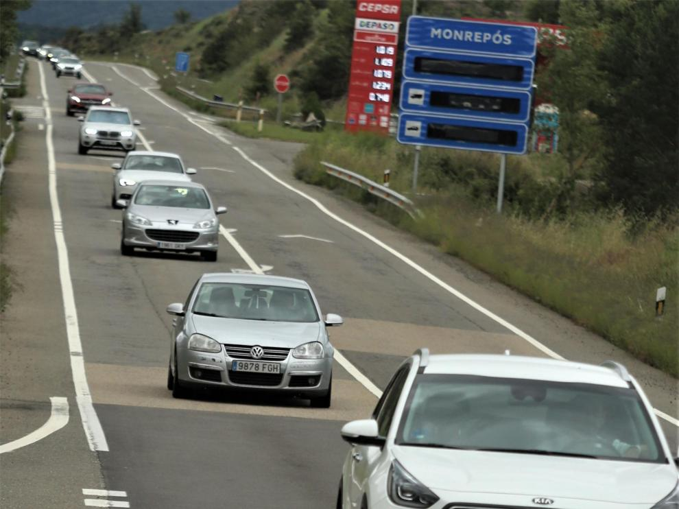 Tráfico fluido este sábado en la provincia de Huesca en dirección al Pirineo