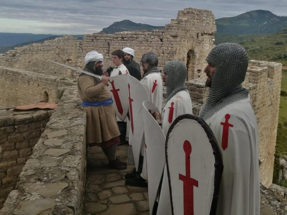 """'Los Caballeros de Santiago' """"toman"""" el Castillo de Loarre"""