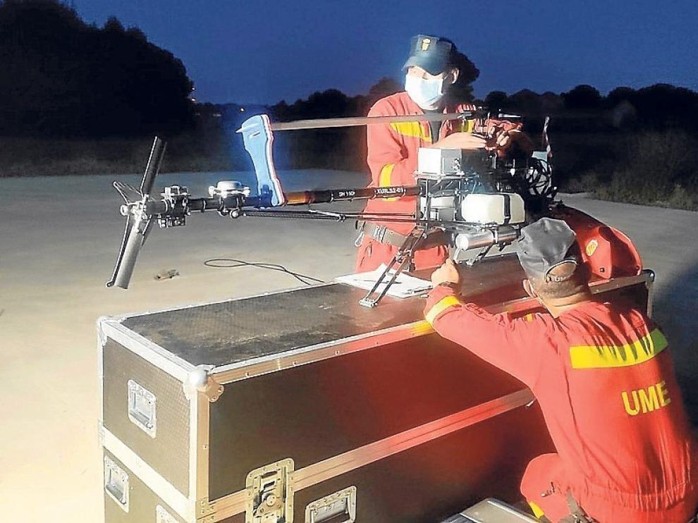 Las poderosas hélices para incendios, rescate de personas y seguridad
