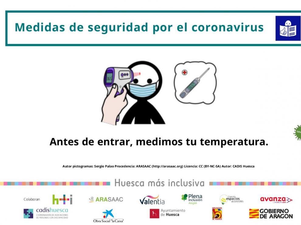 Elaboran carteles accesibles para indicar las medidas de seguridad por el coronavirus
