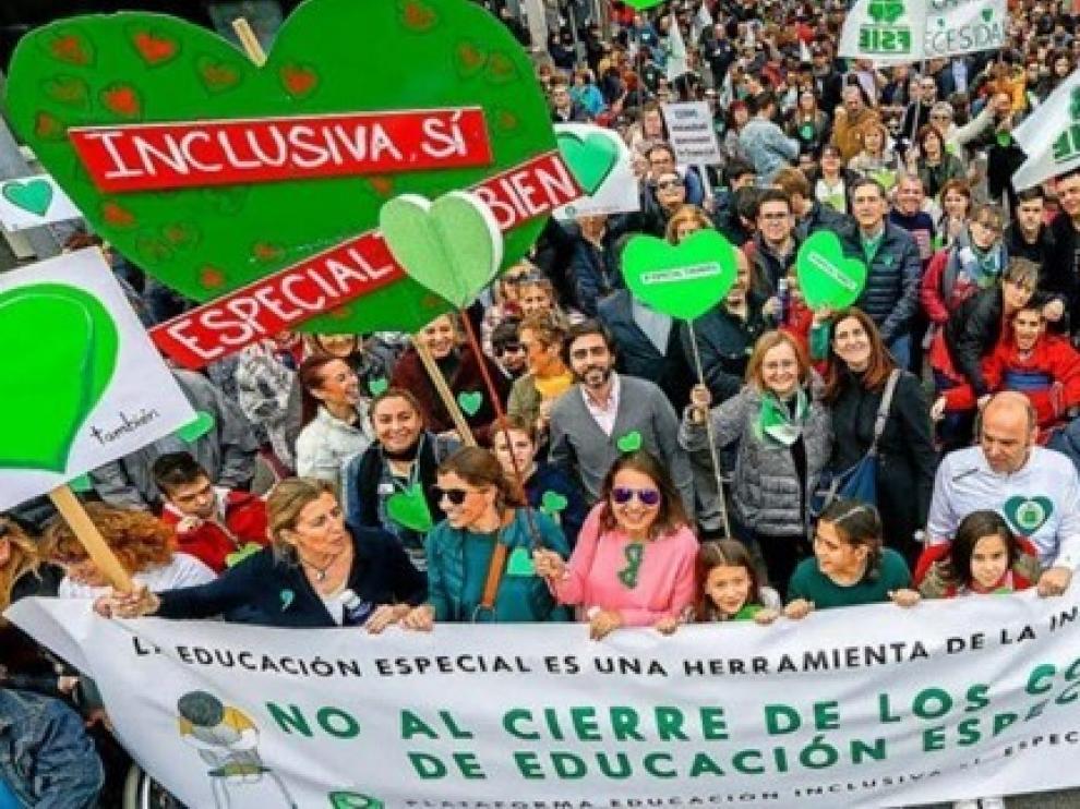 Educación Inclusiva Sí, Especial También pide a los partidos que rechacen la nueva Ley