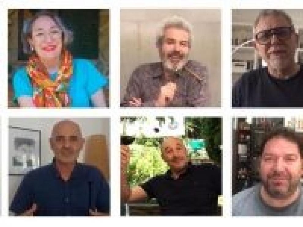 Loreno Caprile, Jordi Frades y Luisa Gavasa colaboran para promocionar el turismo en Sos del Rey Católico