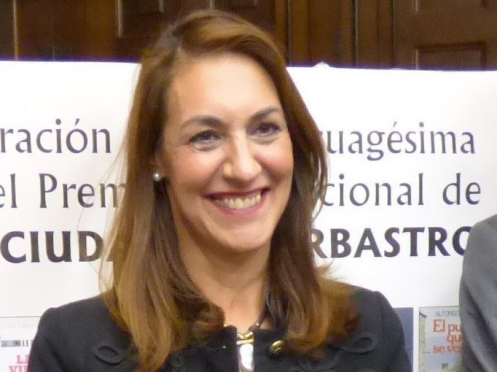 """Blanca Galindo: """"Fernando Marías es un gran embajador de Barbastro"""""""