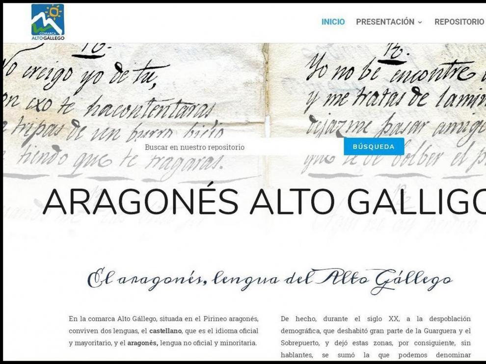 La Comarca del Alto Gállego activa su web de la lengua aragonesa