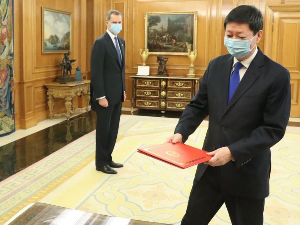 Primera recepción de embajadores tras la alerta sanitaria