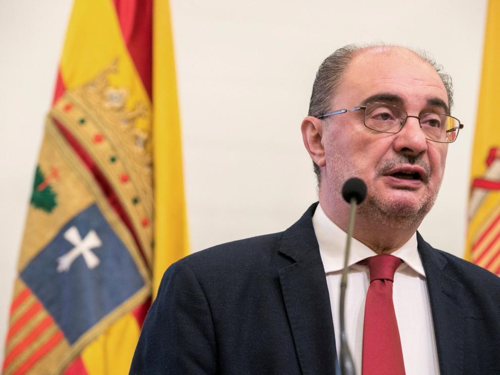 Javier Lambán pide responsabilidad individual frente al virus