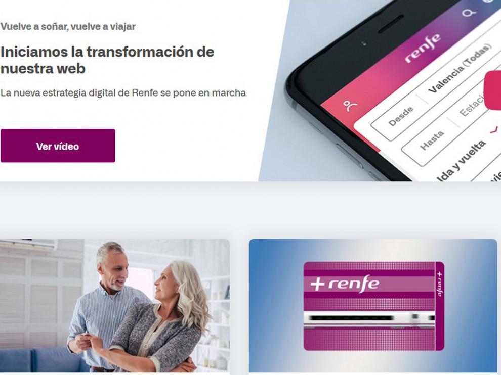 Renfe inicia la transformación de su web con el estreno de un nuevo diseño y mejoras en la navegabilidad y usabilidad