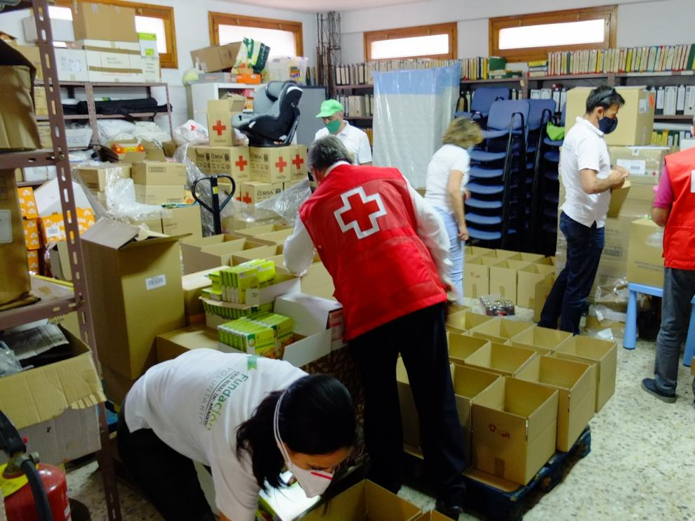 Meriendas para 66 menores atendidos por Cruz Roja de Huesca