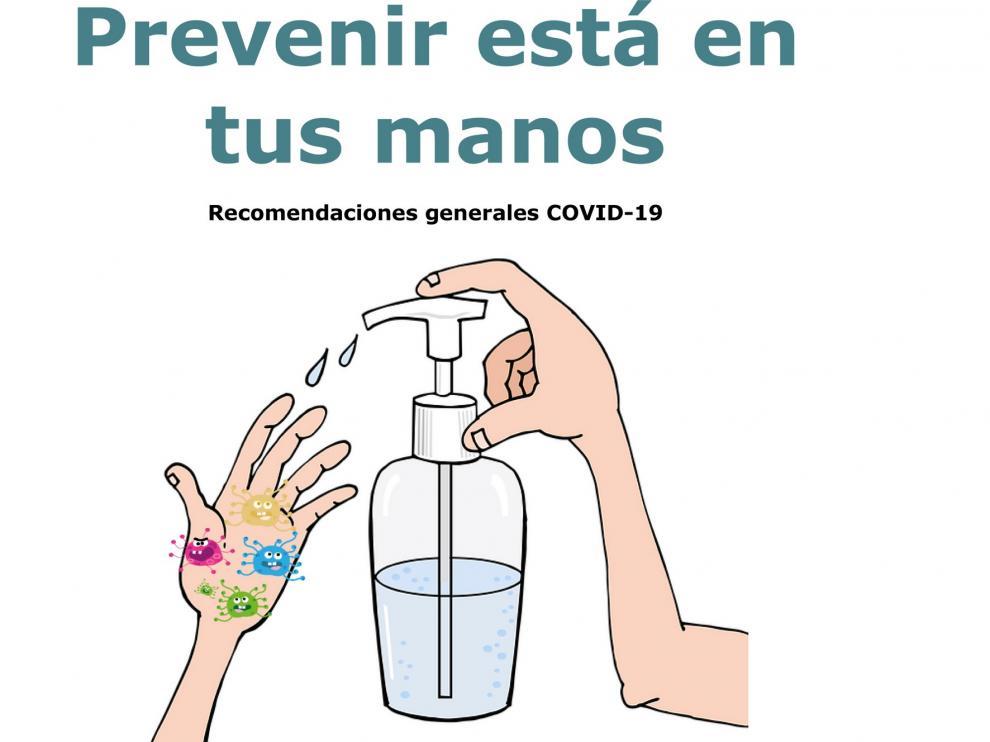 Actividades informativas en Barbastro sobre prevención ante la covid-19