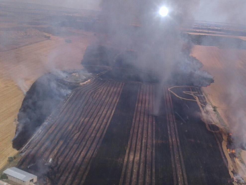 Controlan un incendio en La Sotonera