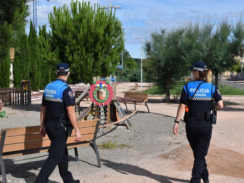 La Policía Local de Monzón intensifica los controles de las medidas de prevención y seguridad
