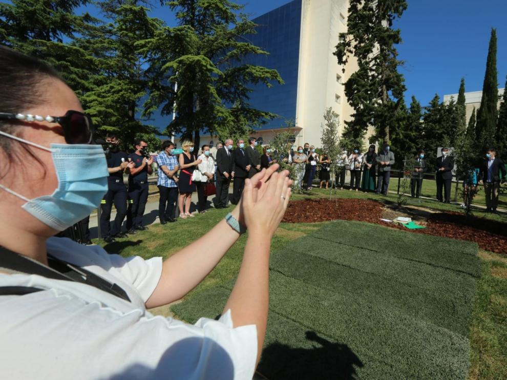 La provincia de Huesca recuerda con emoción a los fallecidos por coronavirus