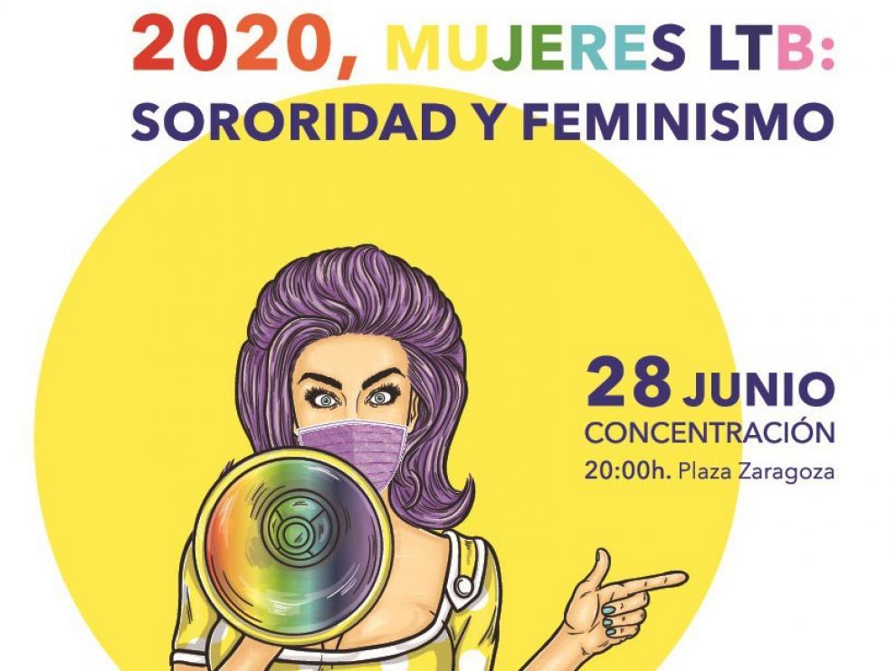 """Las mujeres LTB claman en Huesca por """"sororidad y feminismo"""""""