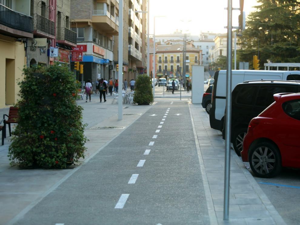 La velocidad para circular se limitará a 20 km/h en vías que conectan carriles bici en Huesca