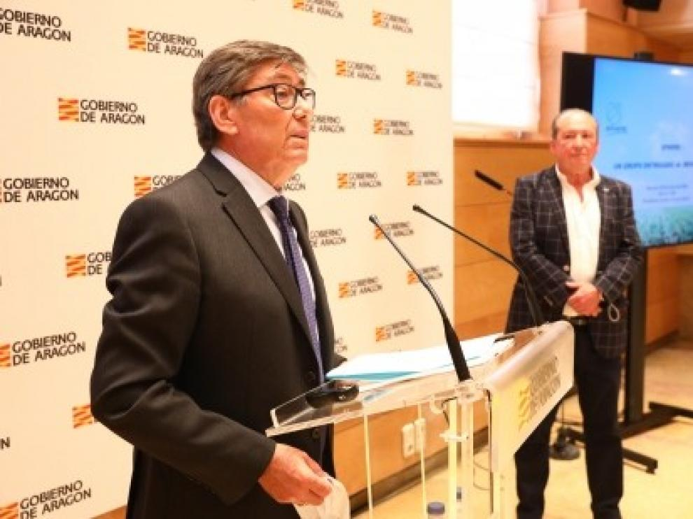 Arturo Aliaga participa en la presentación del nuevo complejo industrial de la empresa aragonesa Sphere España