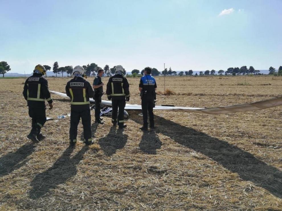 Una persona herida en un accidente de ala delta en Conchel al chocar con un tendido eléctrico