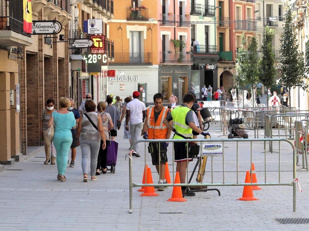 Las obras del Coso Bajo de Huesca, a buen ritmo