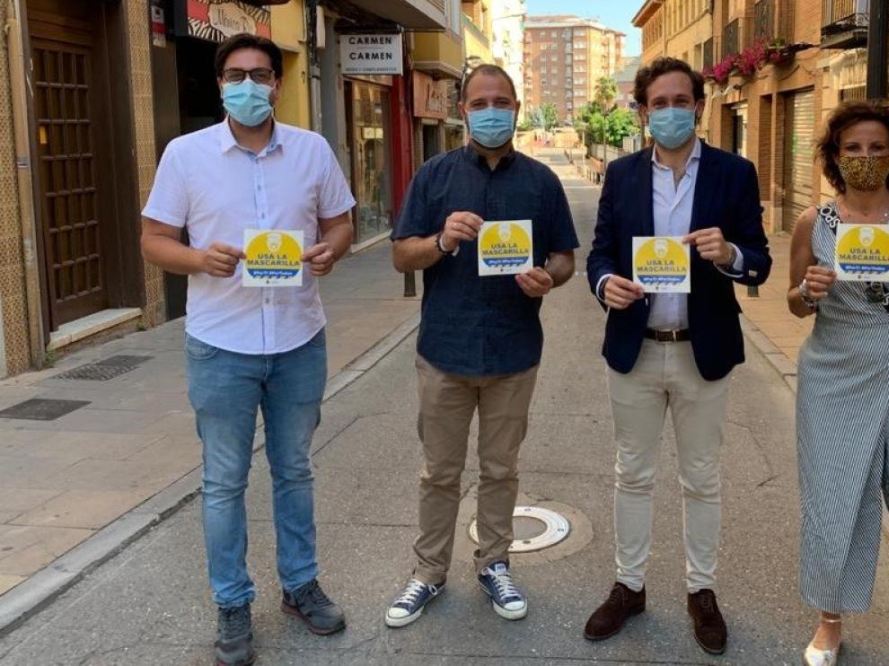 El Ayuntamiento de Monzón y el sector comercial se unen para concienciar sobre el uso de la mascarilla