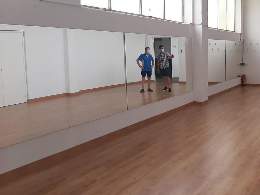 Acondicionada una nueva sala polivalente en el pabellón Joaquín Saludas de Monzón