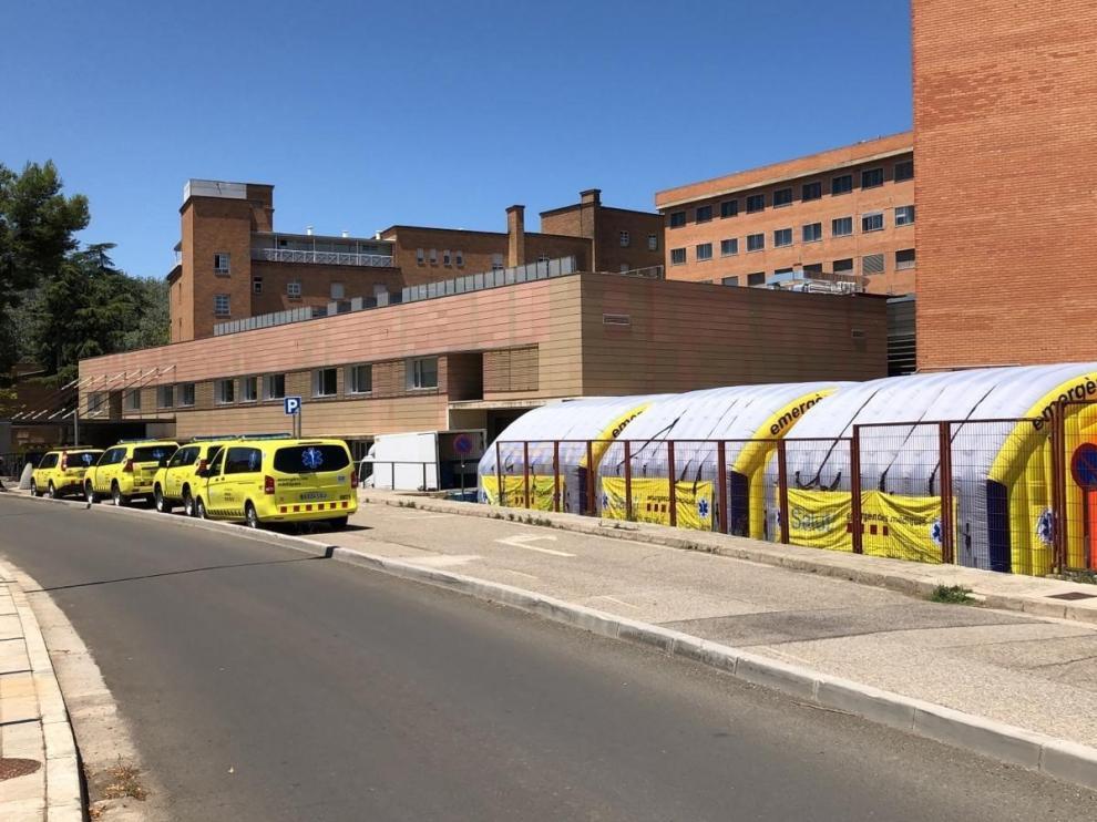 Instalan un hospital de campaña en Lérida para dar respuesta a nuevos brotes