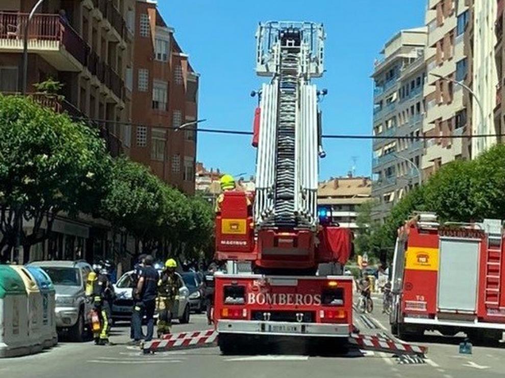 Falsa alarma de incendio en la calle Tarbes de Huesca