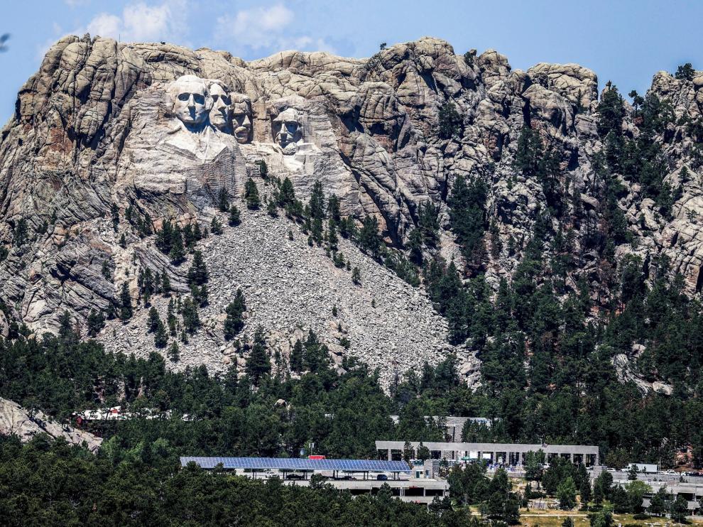 Trump abre la celebración de Independencia en el Monte Rushmore