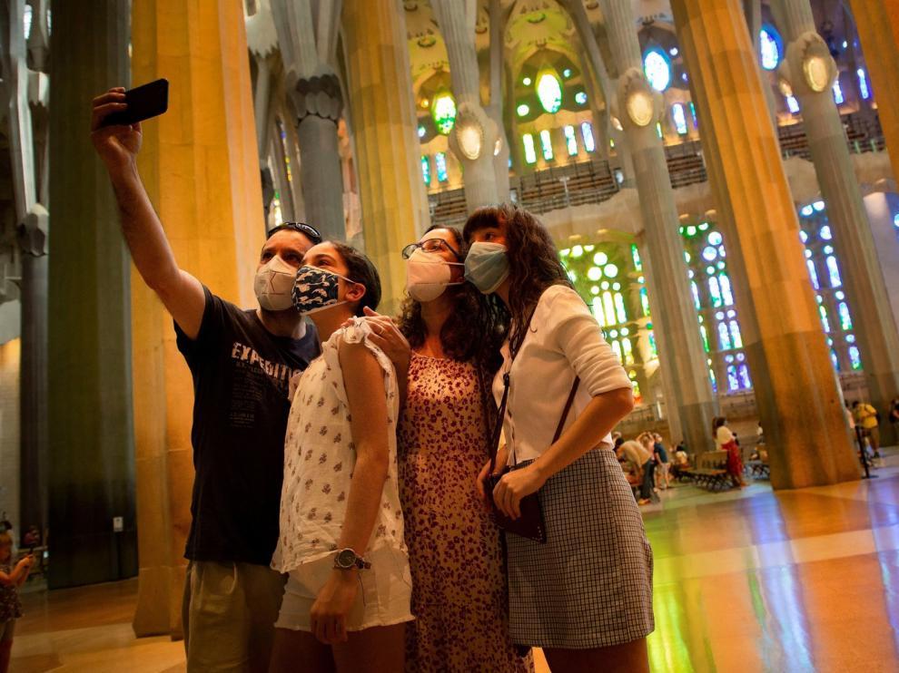 La Sagrada Familia reabre sus puertas para profesionales sanitarios