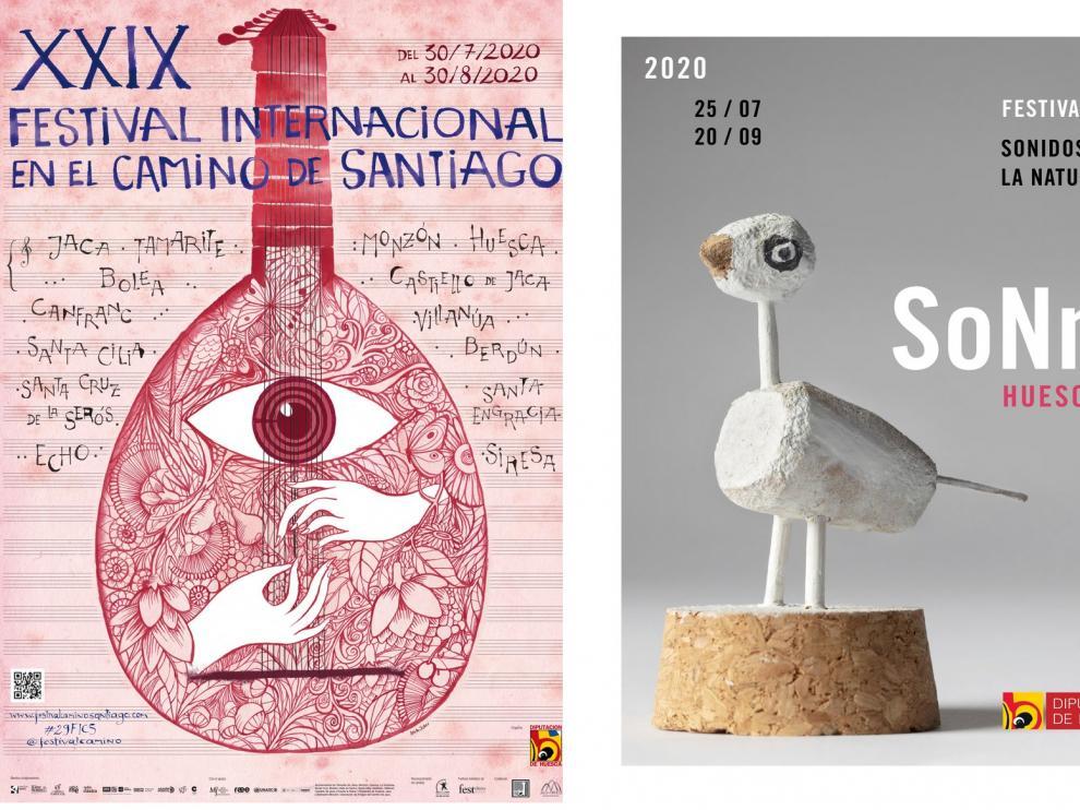 La DPH pone este lunes a disposición del público las invitaciones de los festivales Sonna Huesca y Camino de Santiago