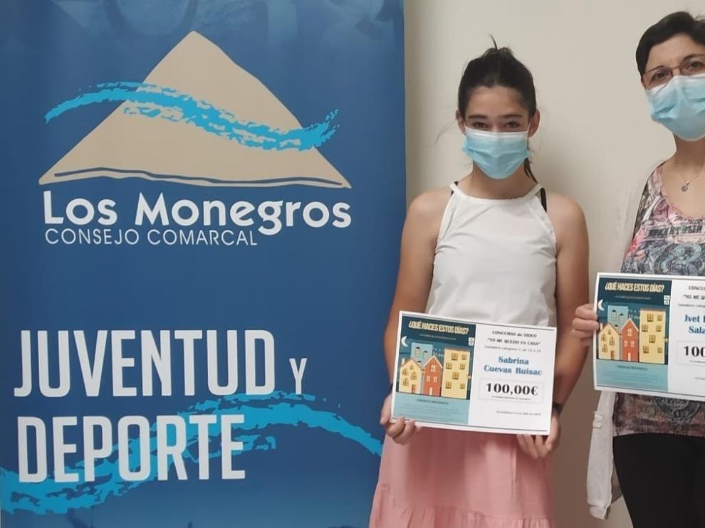 Los Monegros entrega los premios del primer Concurso juvenil de video #YoMeQuedoEnCasa