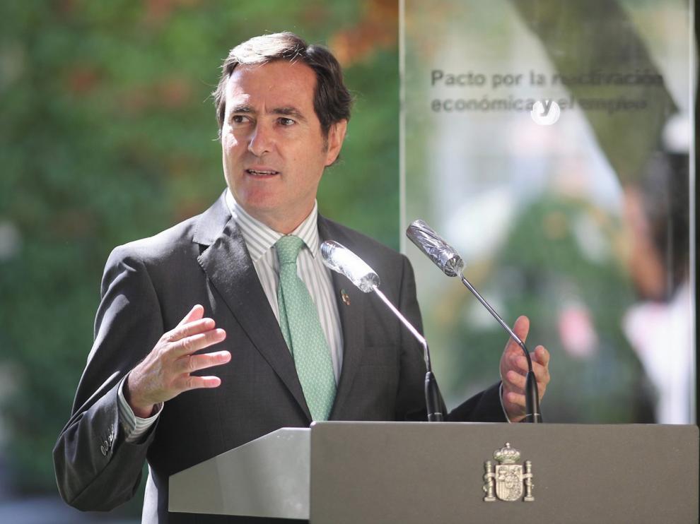 """Antonio Garamendi: """"De la crisis no se sale con más impuestos; si las empresas no van bien no hay recaudación"""""""