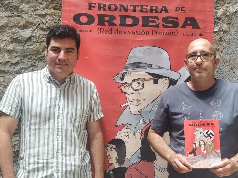 """Juan Pérez y David Tapia: """"Ponzán dio su vida por ayudar a escapar de un régimen totalitario"""""""