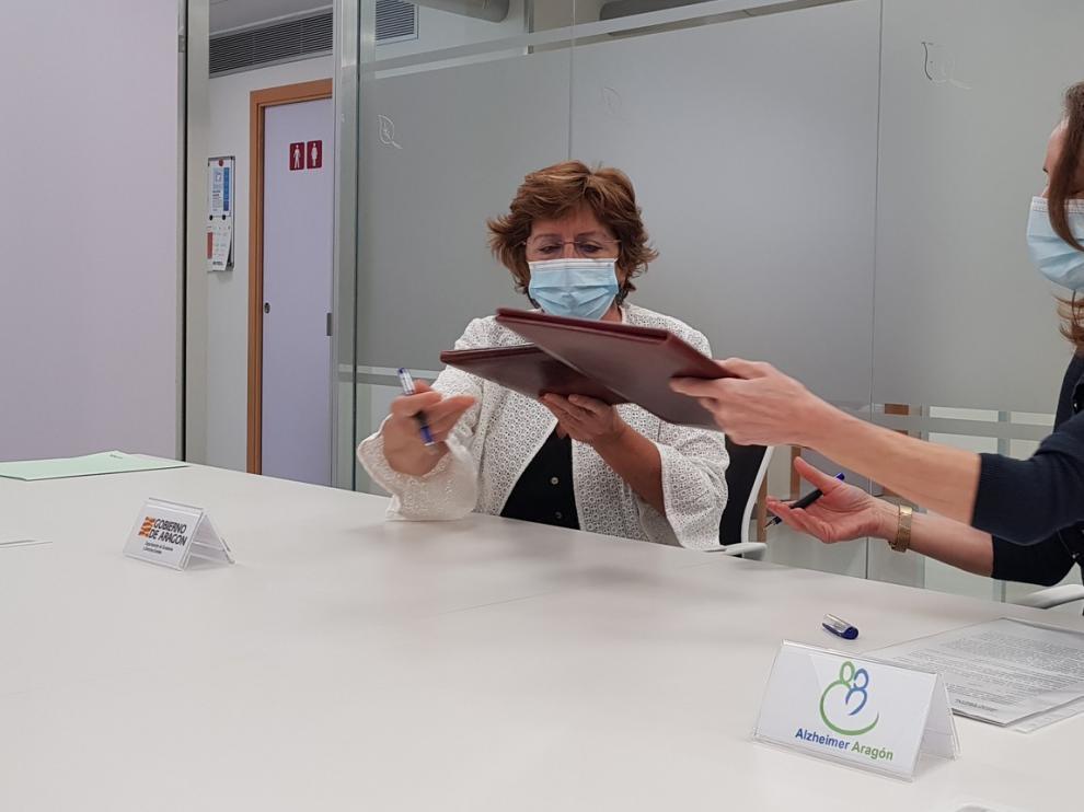 La DGA financiará con 50.000 euros la labor de la Federación de Personas con Alzheimer