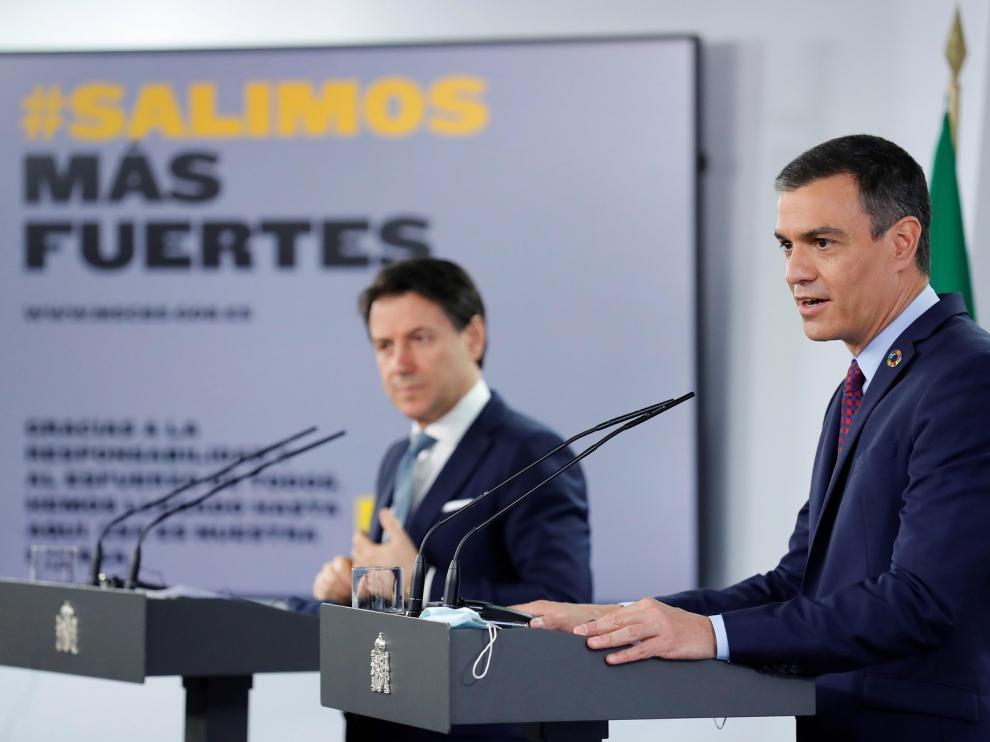 Conte y Sánchez piden a la UE ayudas directas y osadía ante la crisis