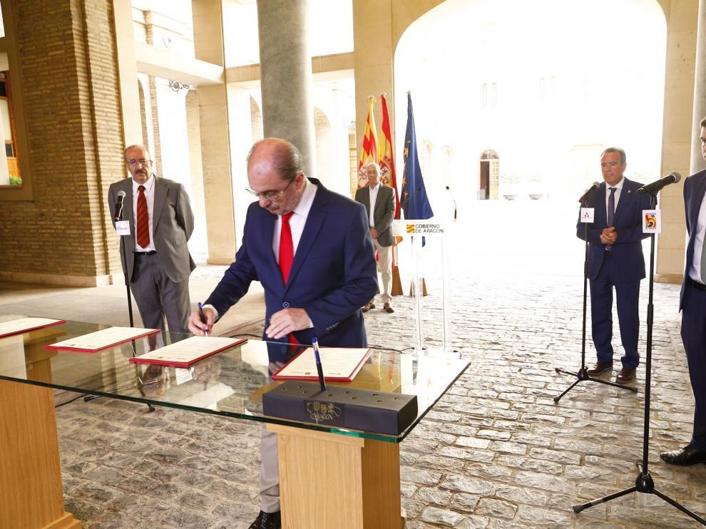 El Gobierno de Aragón y las tres diputaciones provinciales aúnan esfuerzos para revitalizar el medio rural tras la pandemia